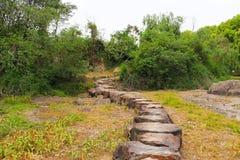 Wiatrowy ścieżki prowadzenie wzgórze zdjęcia stock