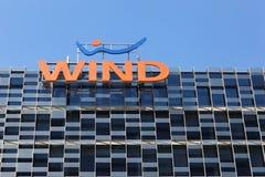 Wiatrowy bulding w Milano, Włochy Obrazy Stock