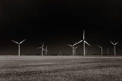 Wiatrowy gospodarstwo rolne Zdjęcie Stock