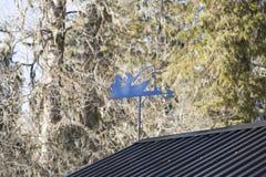 Wiatrowy pointer na dachu obrazy stock