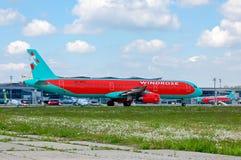 Wiatru Różany lotnictwo Aerobus A321 Fotografia Stock