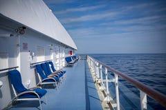 Wiatry ochraniający siedzenia na rejsu liniowu obrazy royalty free