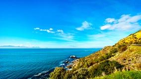 Wiatry zamiatający szczyty blisko przylądka punktu na przylądka półwysepie w Południowa Afryka i Obraz Royalty Free