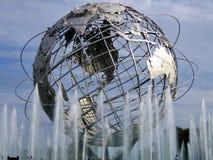 Światu jarmarku kula ziemska (obok us open tenisa centrum) Zdjęcia Royalty Free