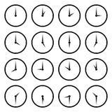 Światu zegar, strefa czasowa wektoru ikony royalty ilustracja
