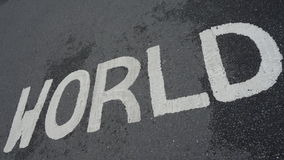 Światu znak Obrazy Royalty Free