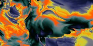 Wibrująca kolor tapeta Maluje w ruchu na temat twórczości, wyobraźni i energii życie, zdjęcie stock