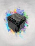 Wibrujący 3d pudełko Obrazy Royalty Free