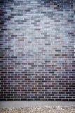 Wibrujący błękitny ściana z cegieł Obraz Stock