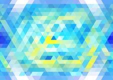 Wibrujący błękitny i żółty bezszwowy mozaika wzór Abstrakcjonistyczny trójgraniasty tło Fotografia Royalty Free