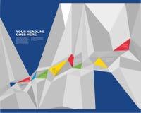 Wibrujący Kolorowy graniastosłup linii czasu projekta szablon ilustracji