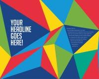 Wibrujący Kolorowy graniastosłupa projekta szablon royalty ilustracja