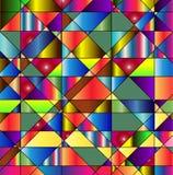 Wibrujący kolorowy poligonalny tło Obrazy Stock