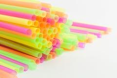 Wibrujący kolory pije słoma klingerytu typ Obraz Royalty Free