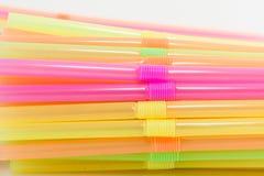 Wibrujący kolory pije słoma klingerytu typ Fotografia Stock