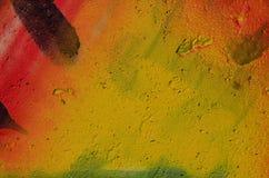 Wibrujący multicolor malujący beton Obrazy Royalty Free