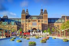 Wibrujący tulipanu muzeum Amsterdam obraz stock