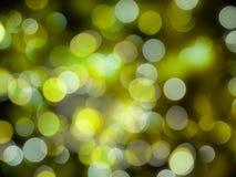 Wibrujący zieleni i bielu round zamazujący zaświeca na czarnym backgrou royalty ilustracja