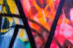 Wibrujący abstrakcjonistyczni graffiti kolory Zdjęcie Royalty Free
