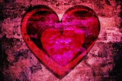 Wibrujący czerwony serce Obrazy Royalty Free