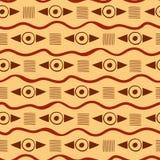 Wibrujący geometryczny plemienny wzór ilustracja wektor