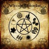Wicca kalender vektor illustrationer