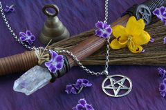 Wiccan Objects Royalty Free Stock Photos