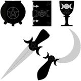 Wiccan tools Royalty Free Stock Images