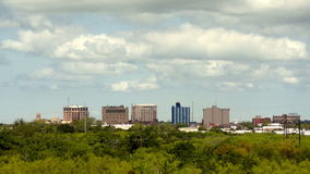Wichita Falls Texas Modest Downtown City Skyline. It's a grand view from the south side of this Texas City stock video footage