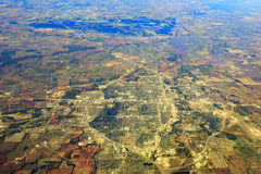 Wichita Falls from top. Aerial view of Wichita Falls, Texas around morning time Royalty Free Stock Photo