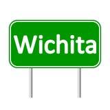 Wichita green road sign Royalty Free Stock Photos