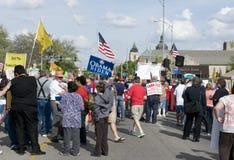 WICHITA, KANSAS - 15 de abril: Partido de té, los E.E.U.U. Imagen de archivo libre de regalías