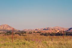 Wichita Mountains Wildife Refuge. In southwestern Oklahoma in autumn Royalty Free Stock Images