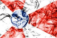 Wichita-Stadtrauchflagge, Staat Kansas, die Vereinigten Staaten von Amerika lizenzfreie stockfotos