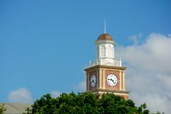 Wichita State University in Wichita, Kansas, Morrison Hall Clock Tower on a Sunny Day Royalty Free Stock Photography