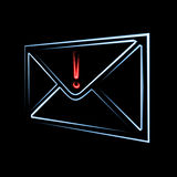 Wichtige E-Mail-Nachricht Stockfotos
