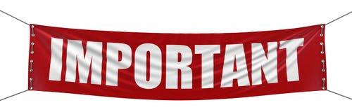 Wichtige Fahne (Beschneidungspfad eingeschlossen) Lizenzfreie Stockfotografie