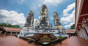 Wichtige historische Stätte Wat MahaThat Ratchaburi Ans von Dvaravati stock footage