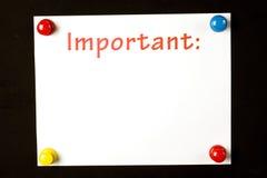 Wichtige Mitteilungs-Hintergrund Stockbild
