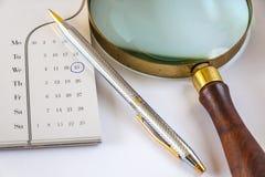 Wichtiger Tag auf Kalender Stockfotografie