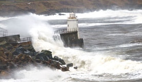 Wick Lighthouse on a stormy day Stock Photography