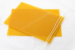 Wick na honeycomb Zdjęcia Royalty Free