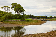 Wick River. View on bridge over Wick River, Wick, Scotland Stock Photos