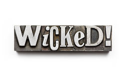 Wicked! Royalty Free Stock Images