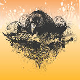 Wicked Crow Illustration Royalty Free Stock Photos