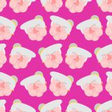Wicked grandmother pattern. Angry Old hag background.  Stock Images