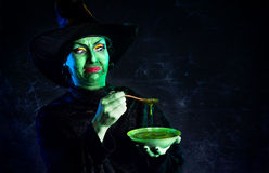 Wicked Green witch at Halloween Royalty Free Stock Photo