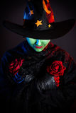 Wicked Green witch at Halloween Stock Image