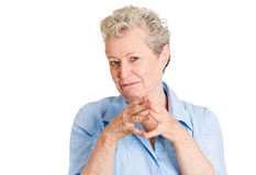 Wicked old woman Stock Photos