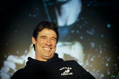 Wicked Pissah. Paul Hebert with a big smile on stage Stock Photography